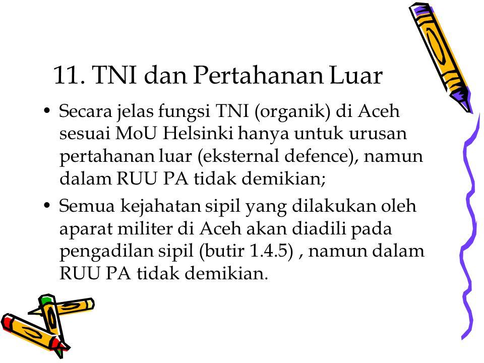 11. TNI dan Pertahanan Luar