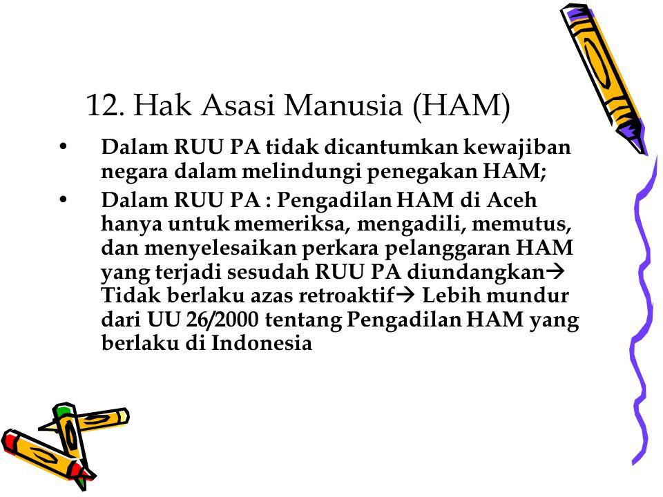 12. Hak Asasi Manusia (HAM)