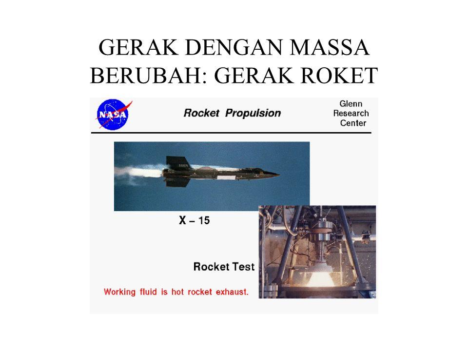GERAK DENGAN MASSA BERUBAH: GERAK ROKET
