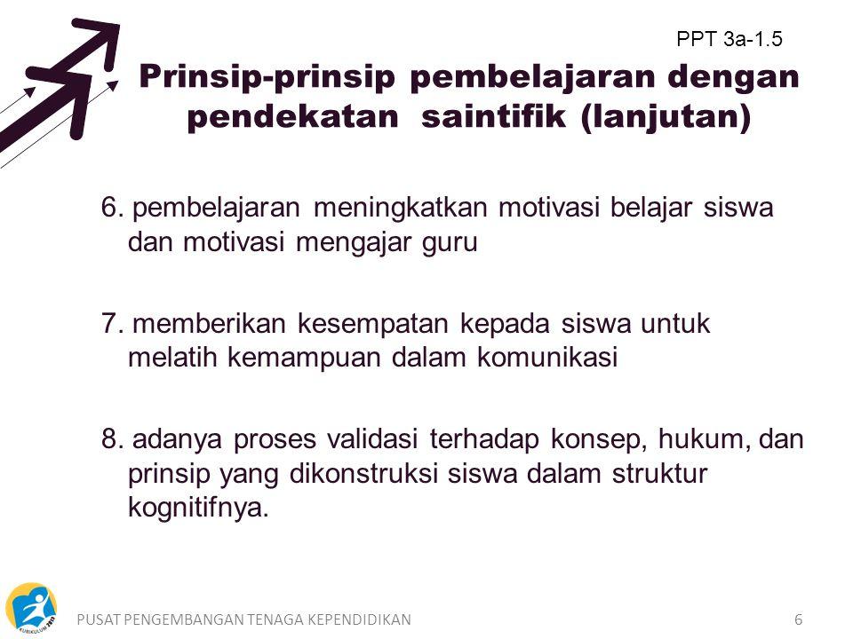 Prinsip-prinsip pembelajaran dengan pendekatan saintifik (lanjutan)