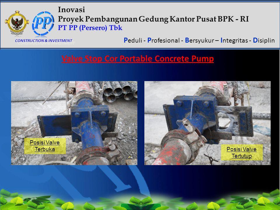 Valve Stop Cor Portable Concrete Pump
