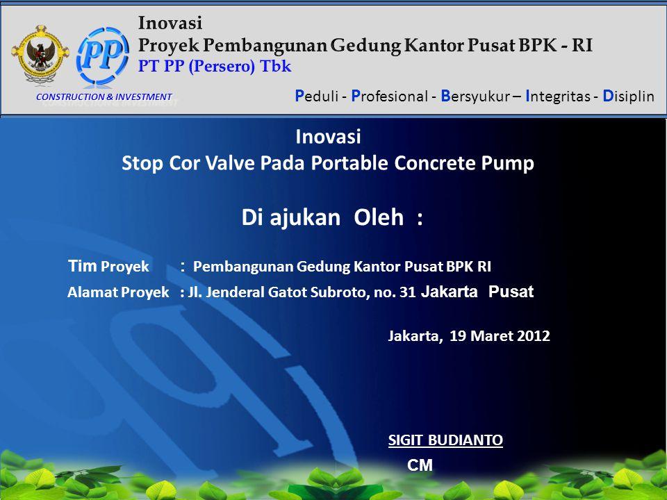 Stop Cor Valve Pada Portable Concrete Pump