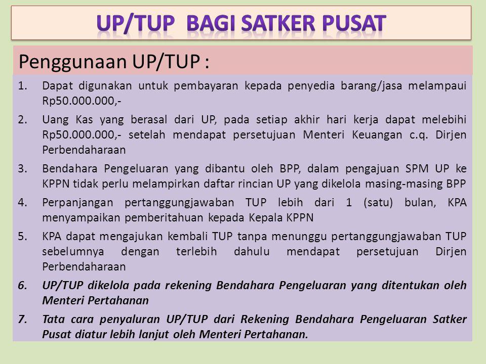 UP/TUP BAGI SATKER PUSAT