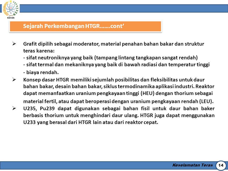 Sejarah Perkembangan HTGR…….cont'
