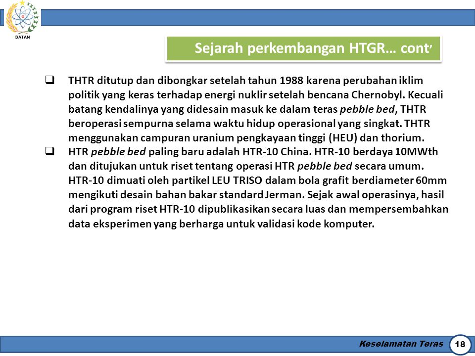 Sejarah perkembangan HTGR… cont'