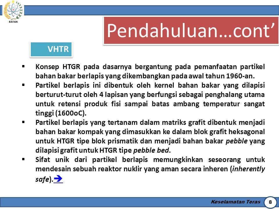 Pendahuluan…cont' VHTR