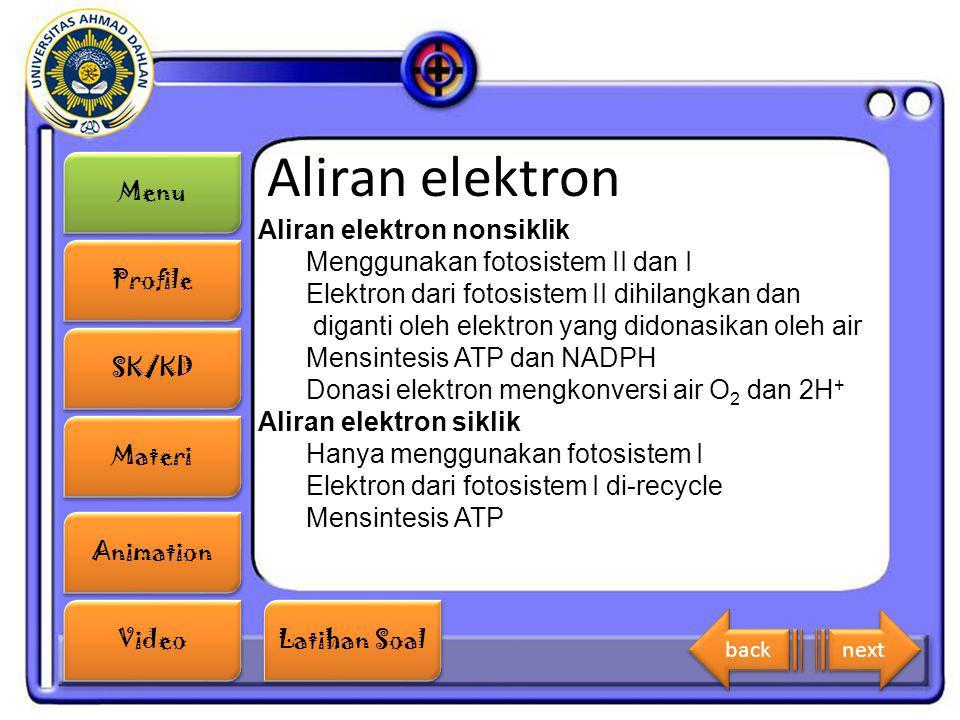 Aliran elektron Aliran elektron nonsiklik