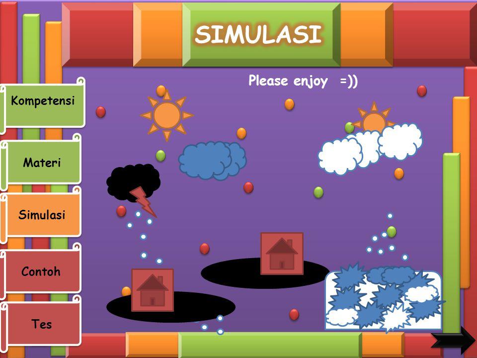 SIMULASI Please enjoy =)) Kompetensi Materi Simulasi Contoh Tes