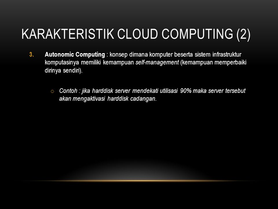 Karakteristik Cloud Computing (2)