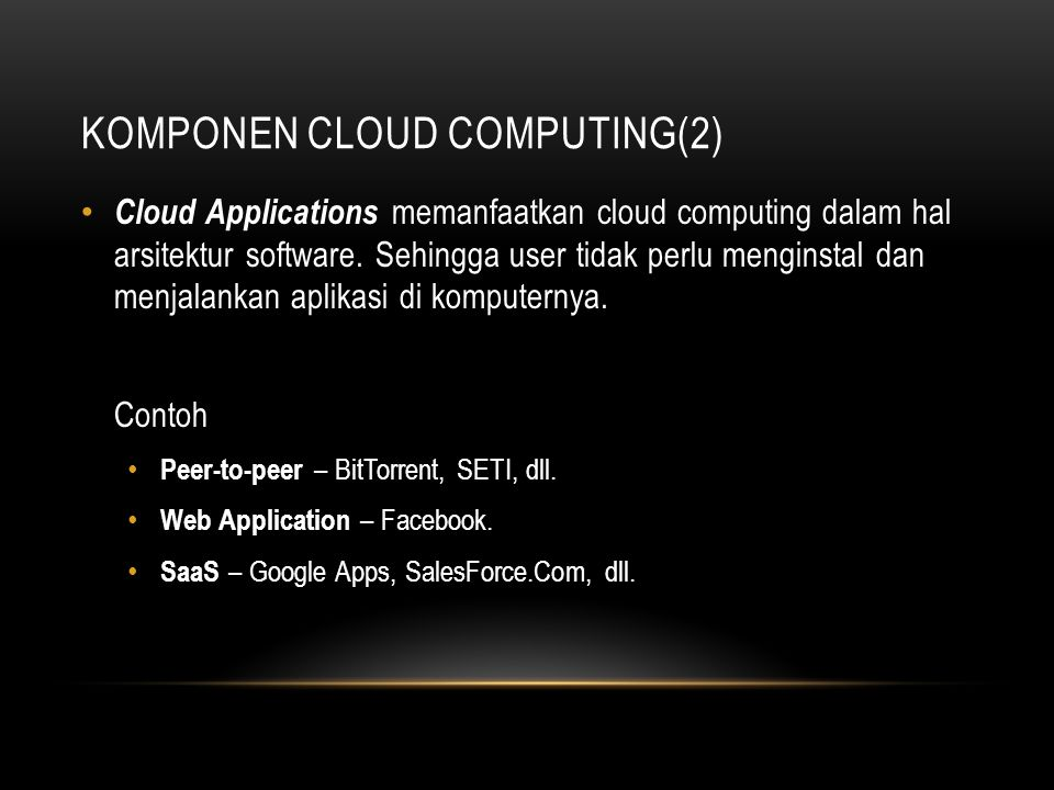 Komponen Cloud Computing(2)