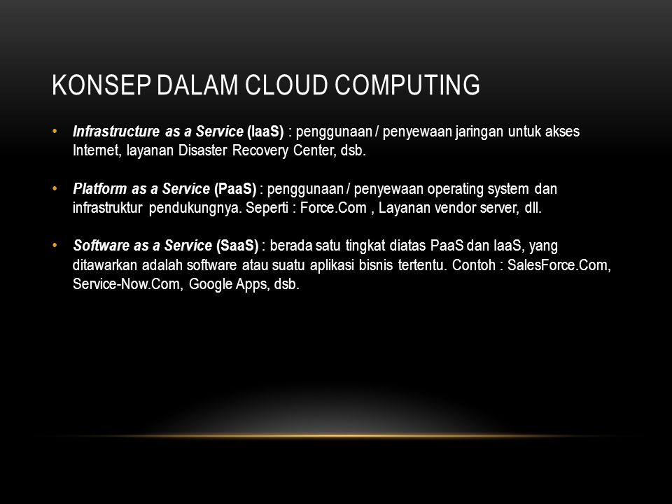 Konsep dalam cloud computing