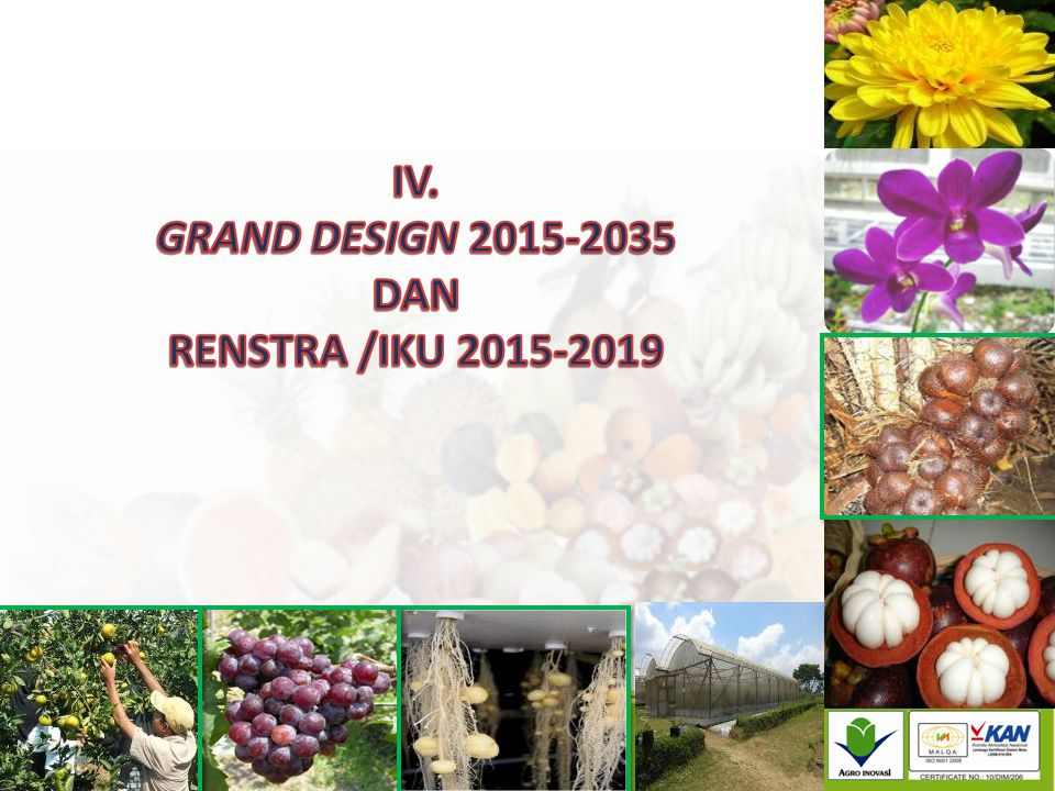 IV. GRAND DESIGN 2015-2035 DAN RENSTRA /IKU 2015-2019