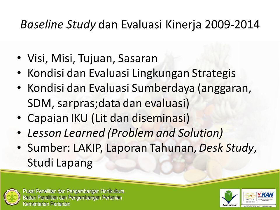 Baseline Study dan Evaluasi Kinerja 2009-2014
