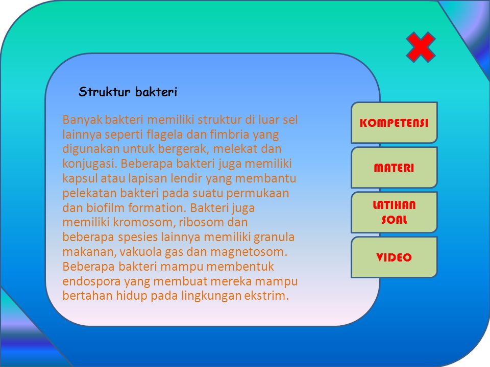 Struktur bakteri KOMPETENSI.