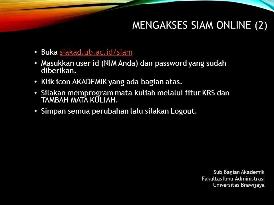 MENGAkses SIAM Online (2)