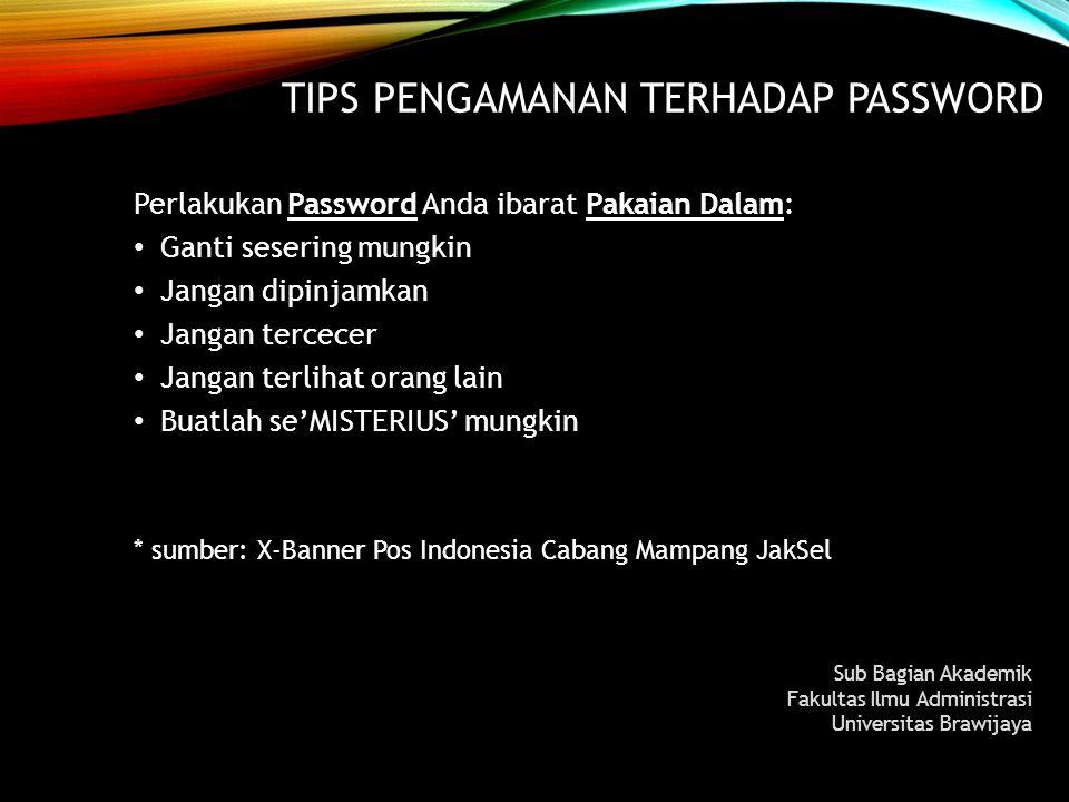 TIPS Pengamanan terhadap Password