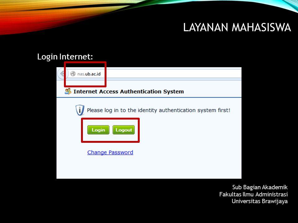 Layanan MAHASISWA Login Internet: