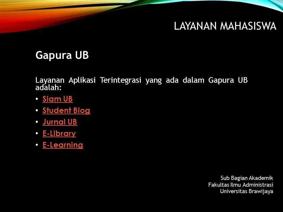 Layanan MAHASISWA Gapura UB