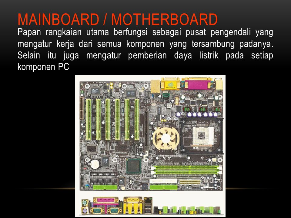 MAINBOARD / MOTHERBOARD
