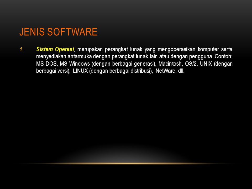 Jenis Software