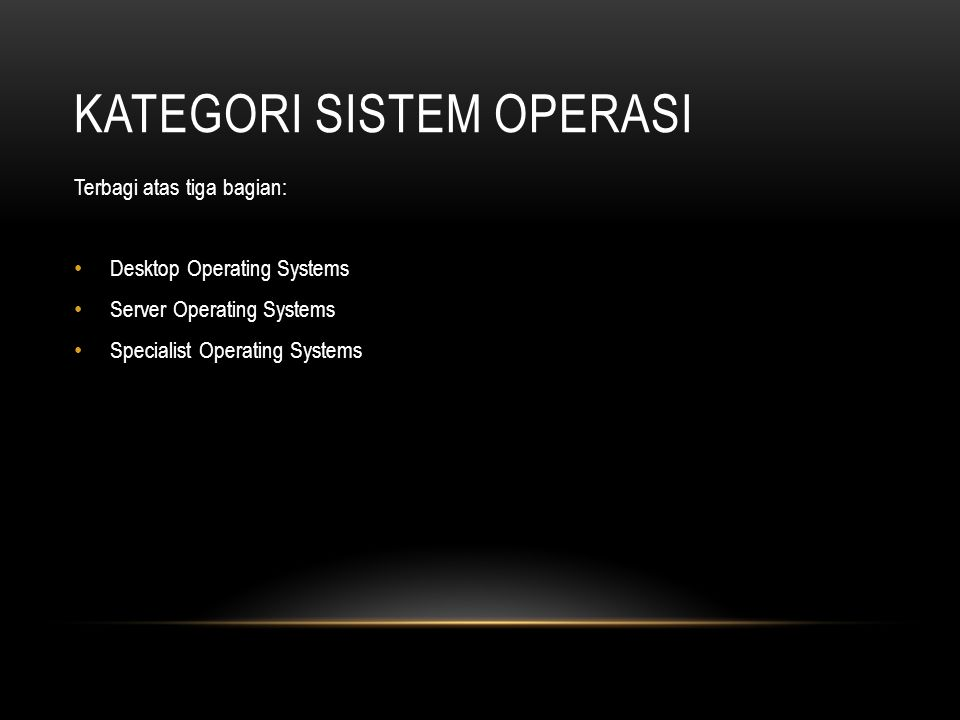 Kategori Sistem Operasi