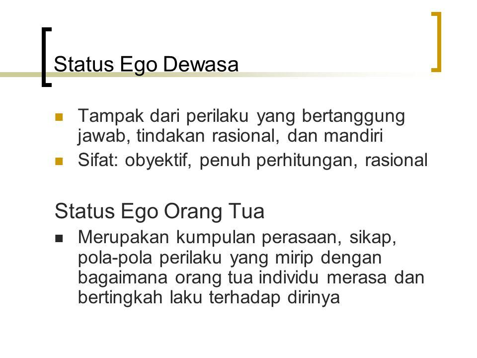 Status Ego Dewasa Status Ego Orang Tua