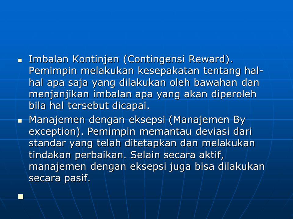 Imbalan Kontinjen (Contingensi Reward)