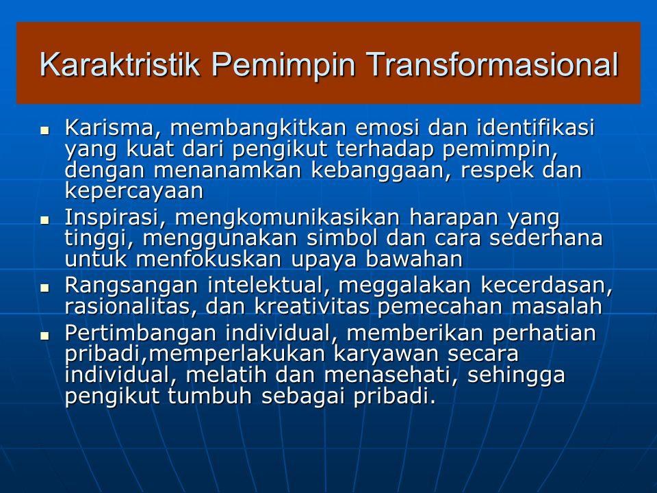 Karaktristik Pemimpin Transformasional