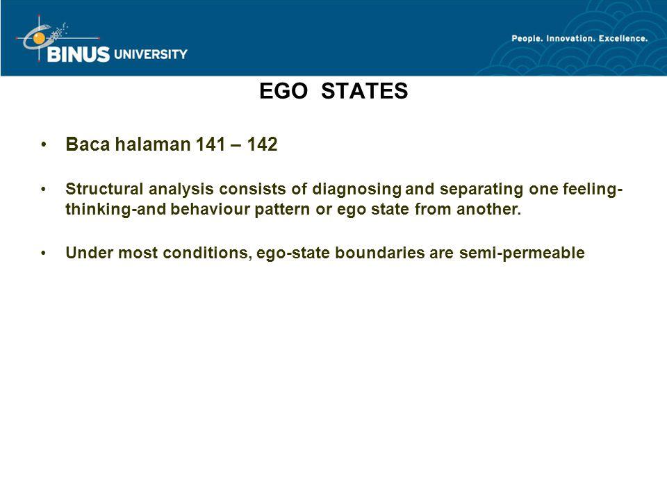 EGO STATES Baca halaman 141 – 142