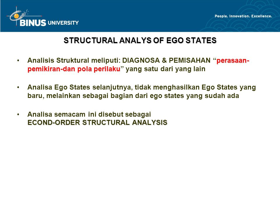 STRUCTURAL ANALYS OF EGO STATES