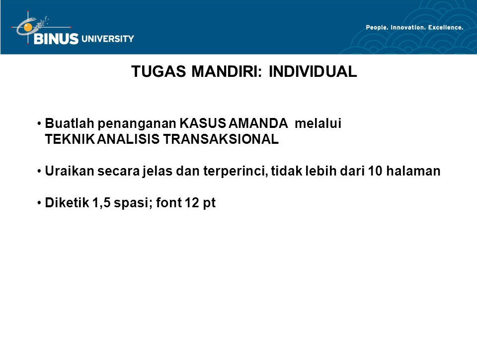 TUGAS MANDIRI: INDIVIDUAL