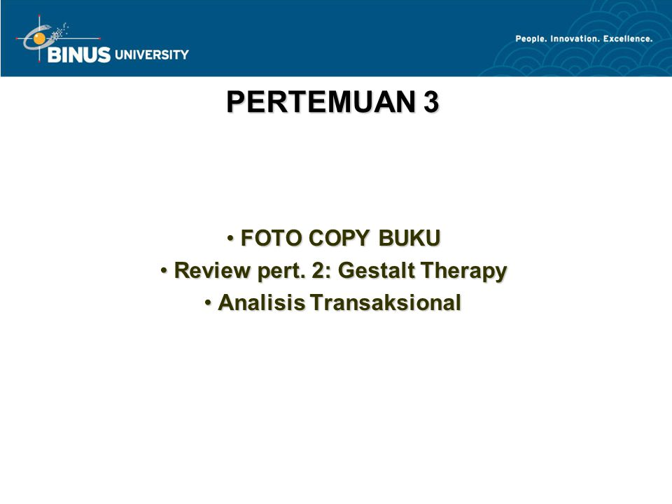 FOTO COPY BUKU Review pert. 2: Gestalt Therapy Analisis Transaksional
