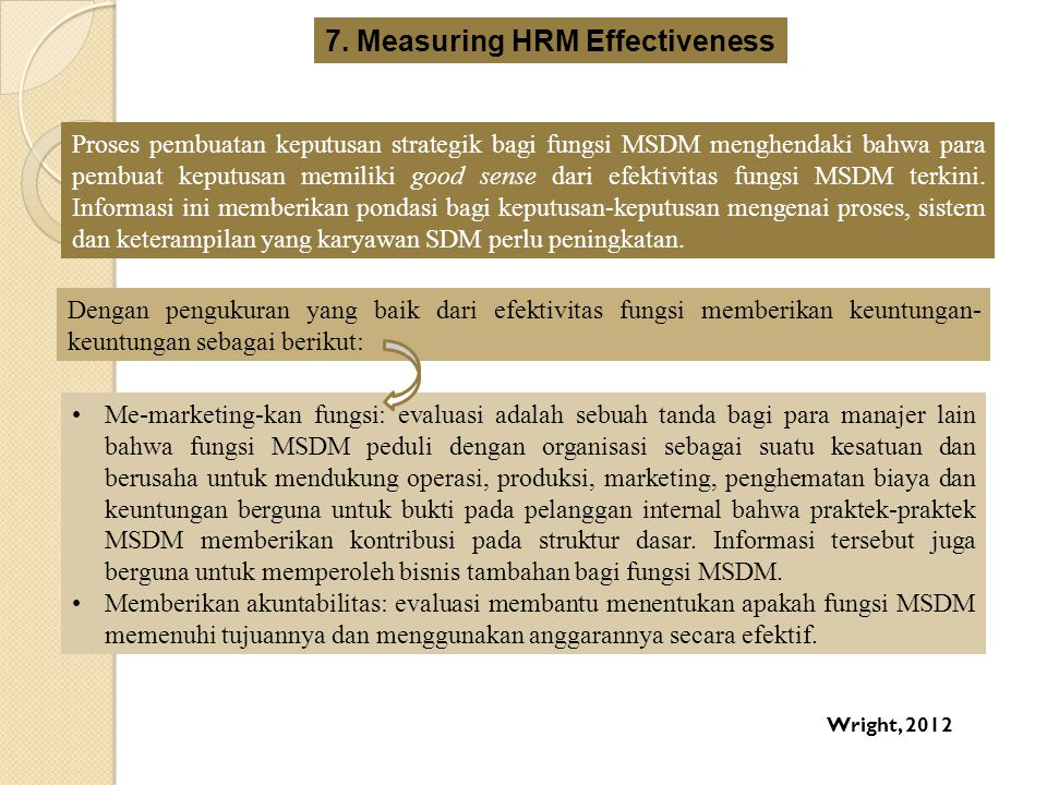 7. Measuring HRM Effectiveness