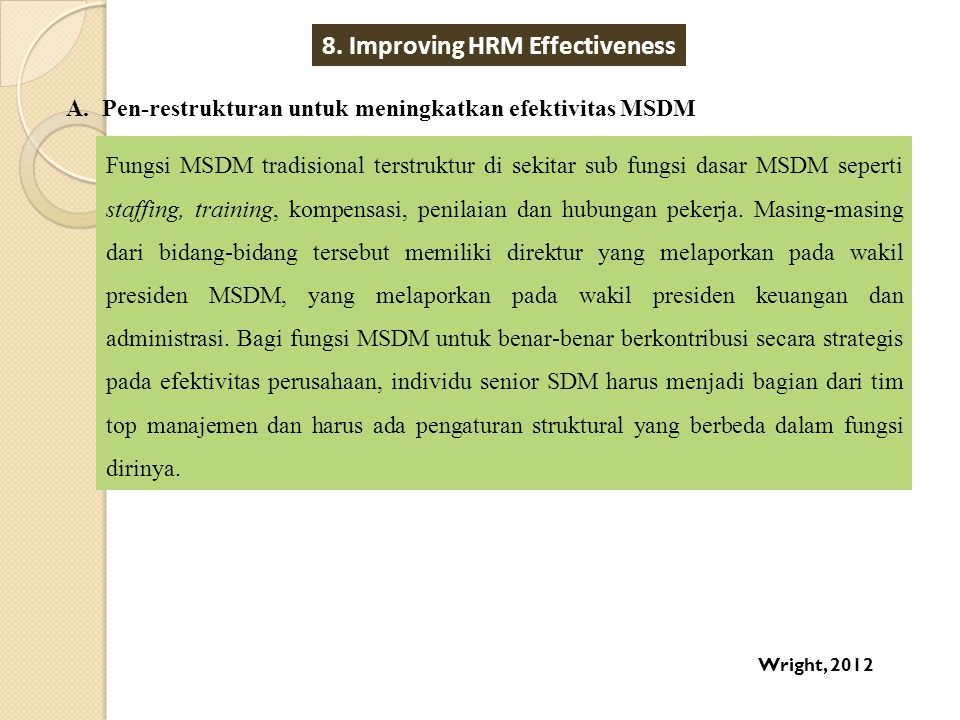 8. Improving HRM Effectiveness