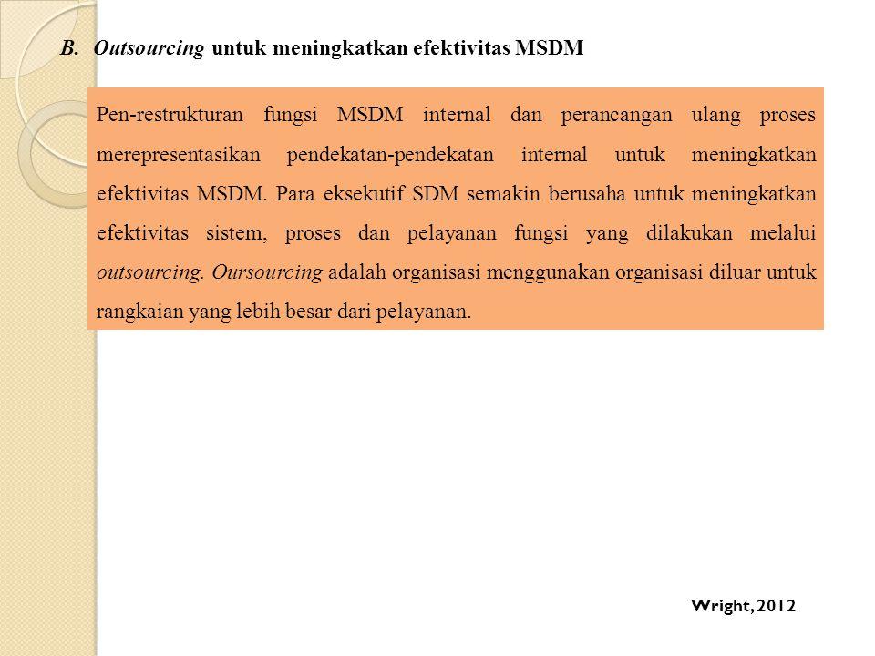 Outsourcing untuk meningkatkan efektivitas MSDM