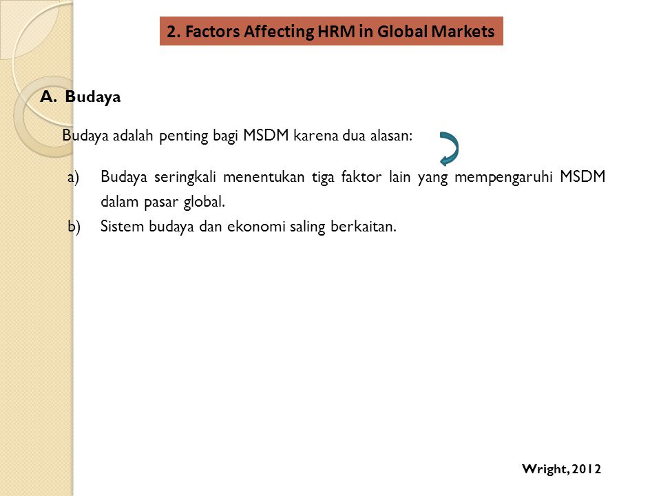 2. Factors Affecting HRM in Global Markets