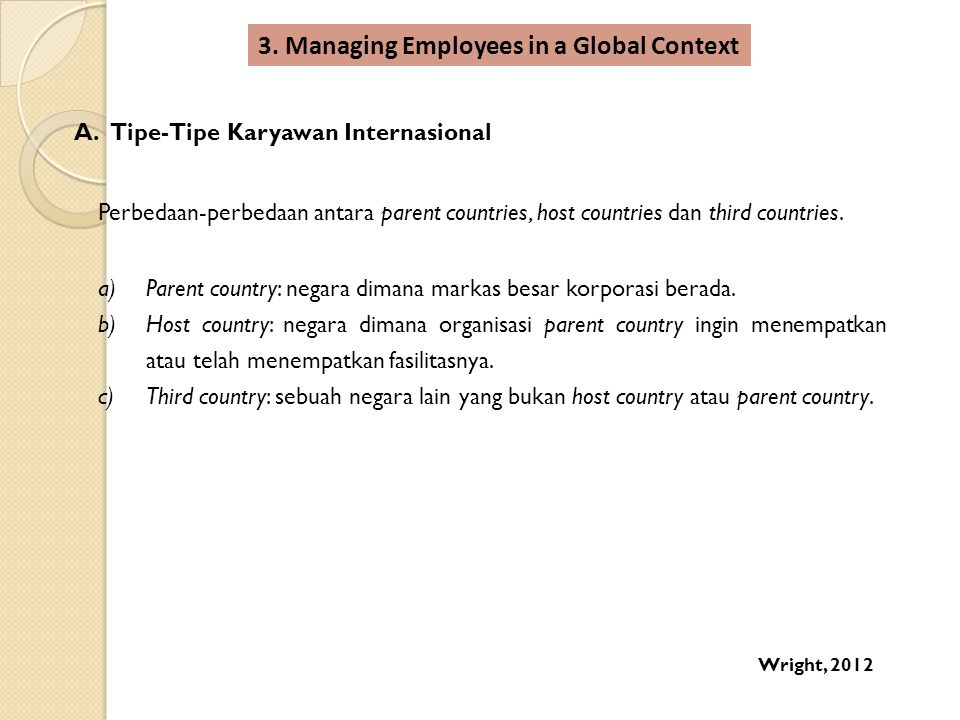 3. Managing Employees in a Global Context