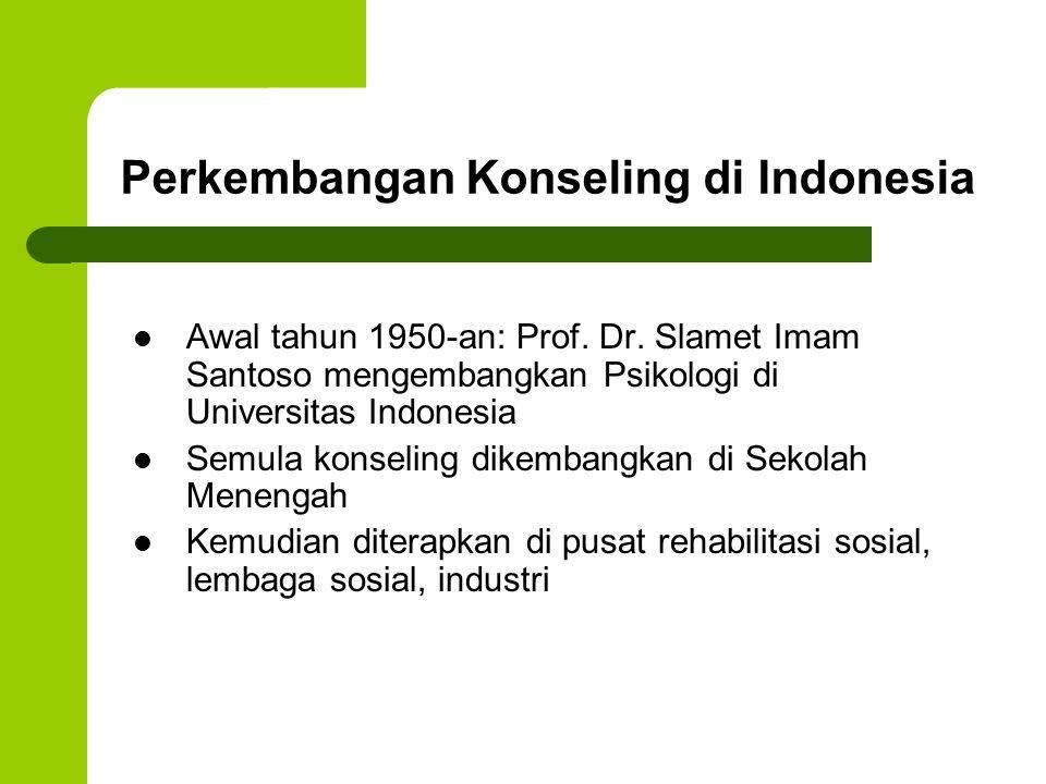 Perkembangan Konseling di Indonesia