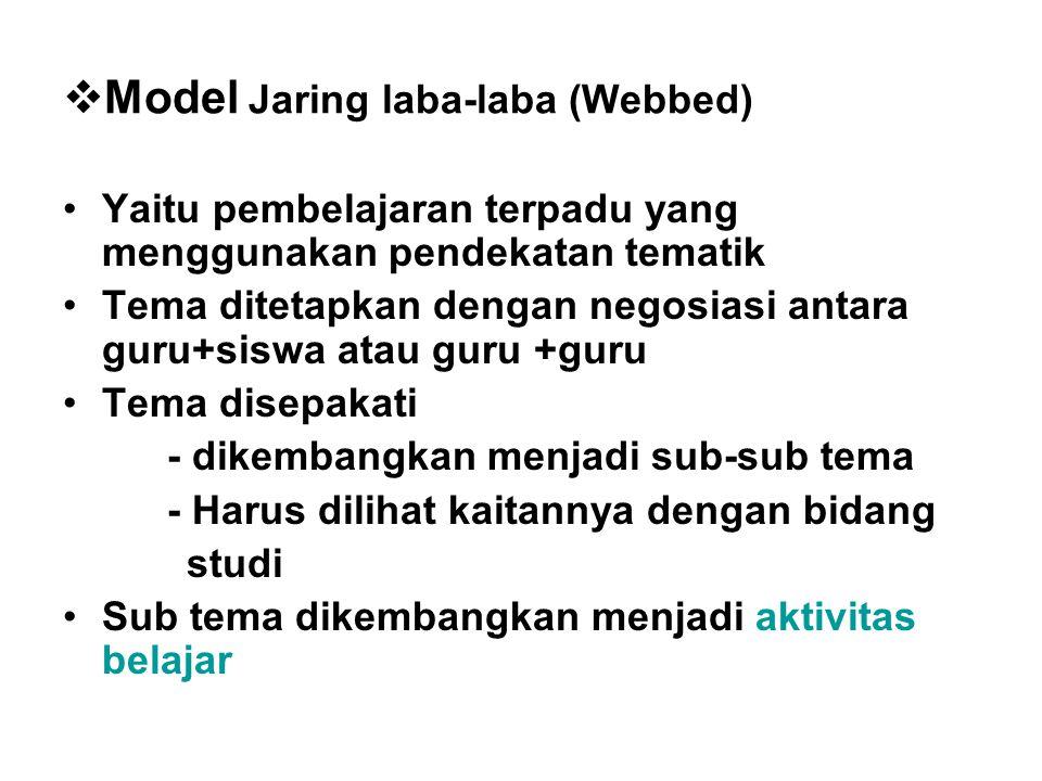 Model Jaring laba-laba (Webbed)