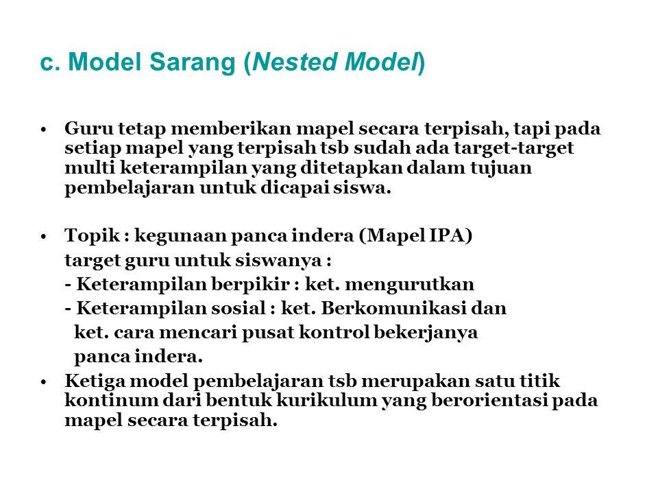 c. Model Sarang (Nested Model)