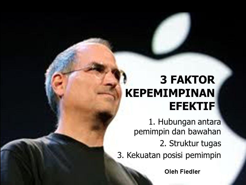 3 FAKTOR KEPEMIMPINAN EFEKTIF