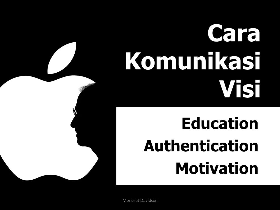Cara Komunikasi Visi Education Authentication Motivation