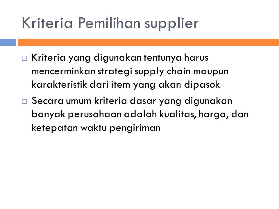 Kriteria Pemilihan supplier