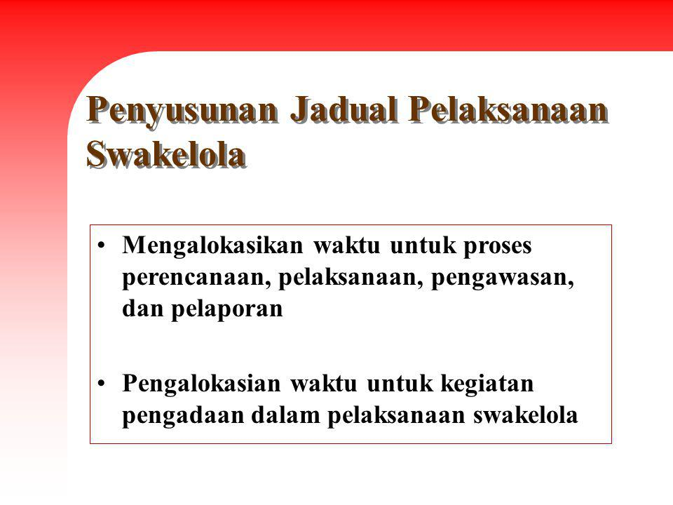 Penyusunan Jadual Pelaksanaan Swakelola