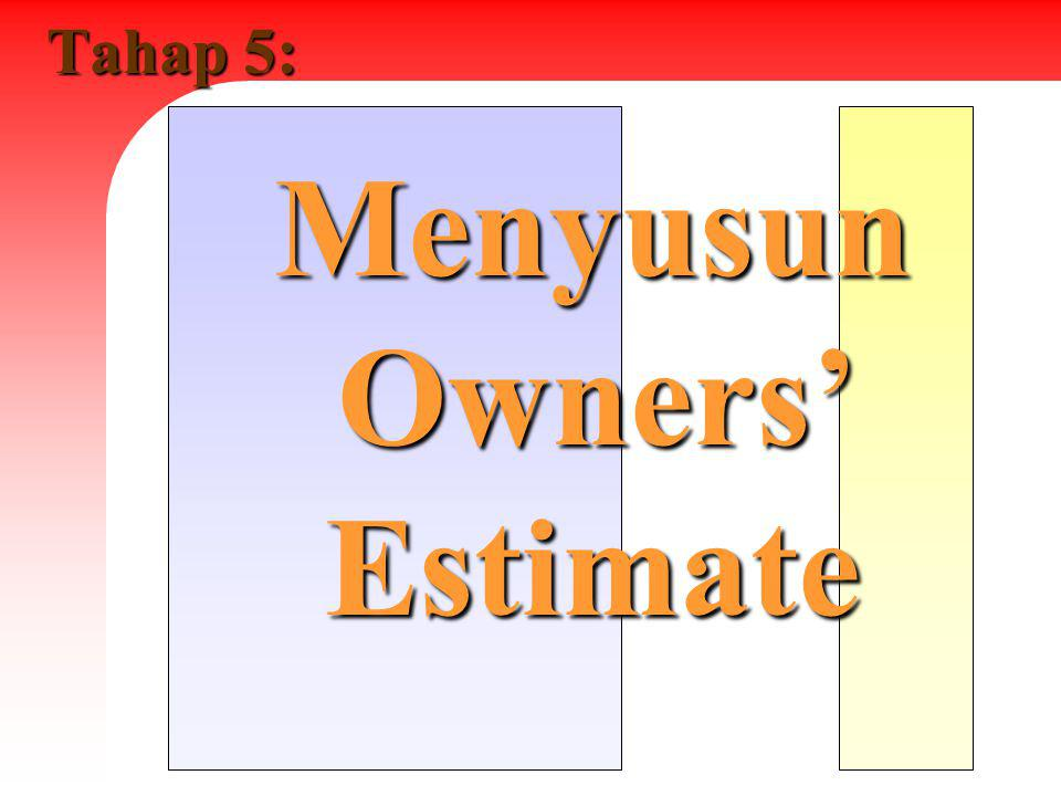 Menyusun Owners' Estimate