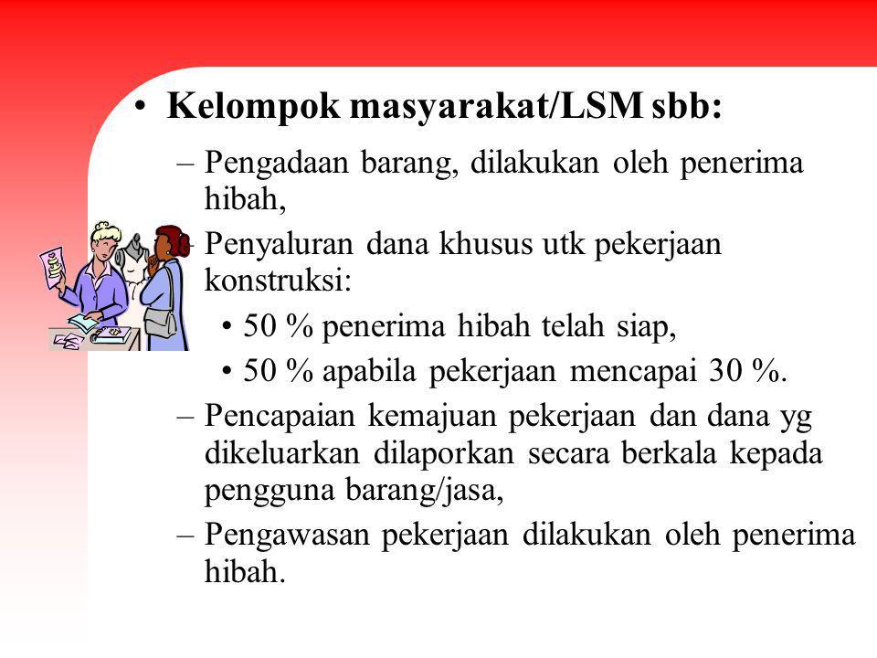 Kelompok masyarakat/LSM sbb: