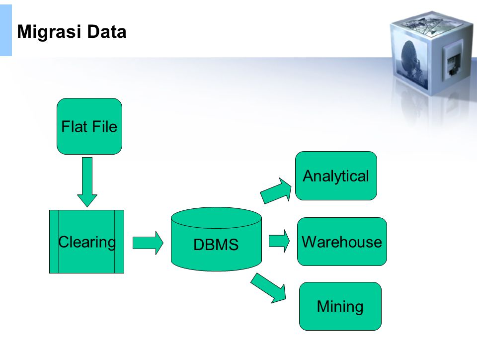 Migrasi Data Flat File Analytical DBMS Clearing Warehouse Mining