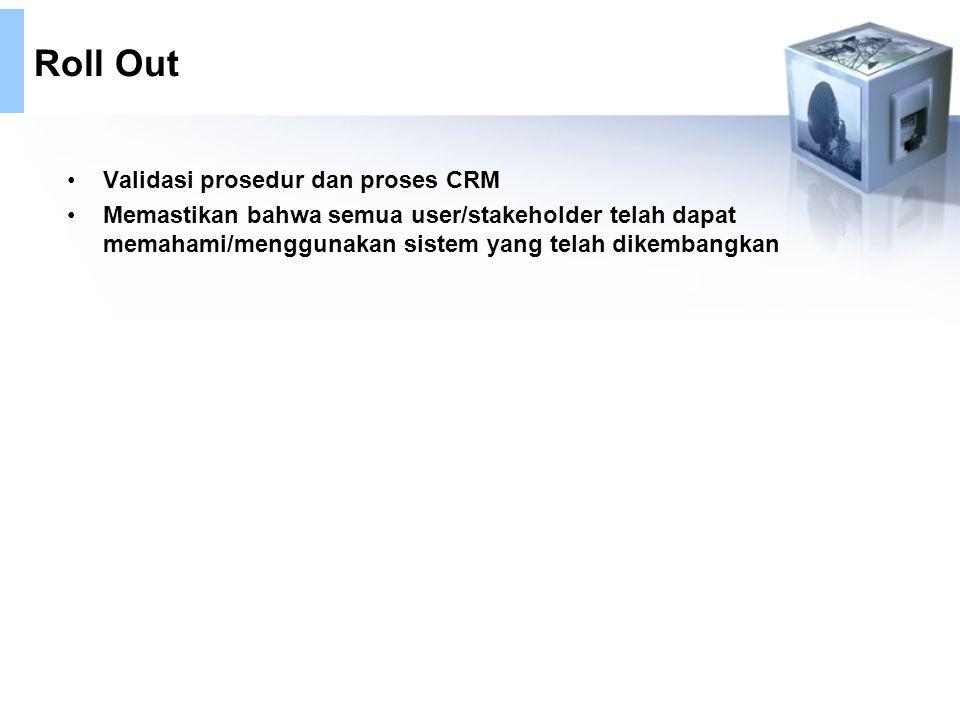 Roll Out Validasi prosedur dan proses CRM