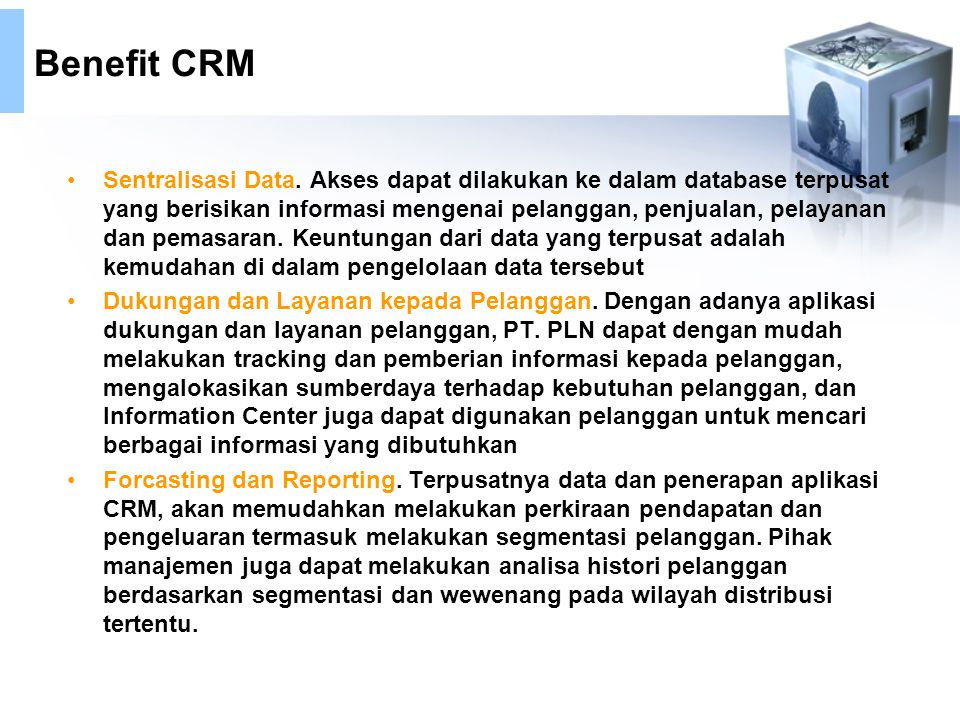 Benefit CRM