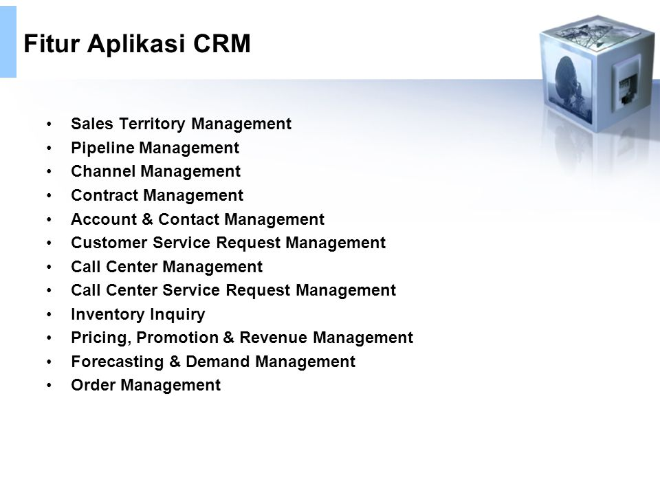 Fitur Aplikasi CRM Sales Territory Management Pipeline Management
